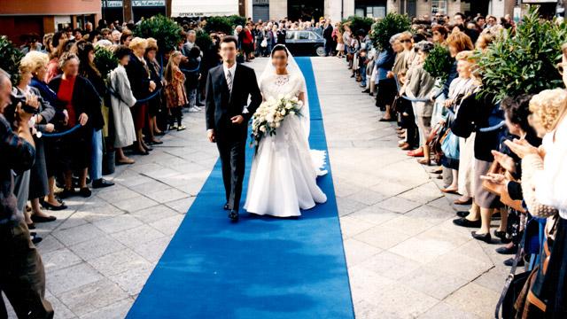 Matrimonio Religioso in Blu  Galluzzi Addobbi per Matrimoni